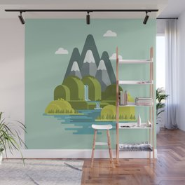 The nice valley Wall Mural