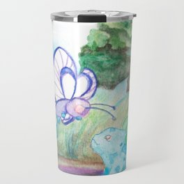 Butterfree And Bulba-saur Travel Mug