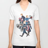 suits V-neck T-shirts featuring The suits by Sodam-art