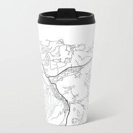 PARK CITY MAP PRINT Metal Travel Mug