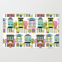 karen hallion Area & Throw Rugs featuring Boutiques and Downtown Buildings by Karen Fields by Karen Fields Design