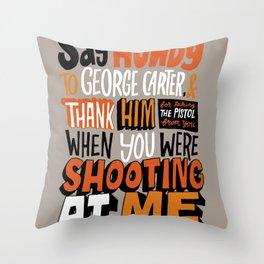Shooting At Me Throw Pillow