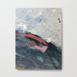 Sea to Sky: a minimal abstract piece in pinks, blue and white by Alyssa Hamilton Art Metal Print
