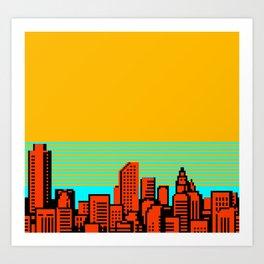 NES CITYSCAPE 02 Art Print