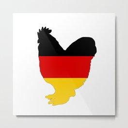 German Flag - Rooster Metal Print