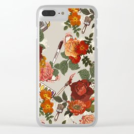 Floral Pattern (art supplies) Clear iPhone Case