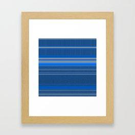 Bright Blues with Grey Stripes Framed Art Print