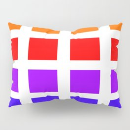 Colorful Art rainbow swatches pattern Pillow Sham