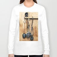 kitchen Long Sleeve T-shirts featuring KITCHEN EQUIPMENT by CAPTAINSILVA