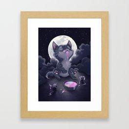 Rainbow Kitty Framed Art Print