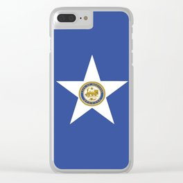 American cities-  Flag of Houston. Clear iPhone Case