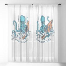 California Surf Club Sheer Curtain