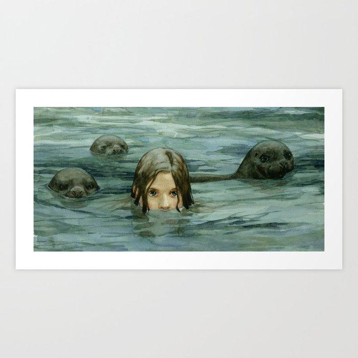 The Selkie Art Print