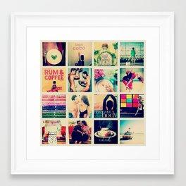 Kate Spade Collage Framed Art Print