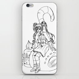 Amai girl iPhone Skin