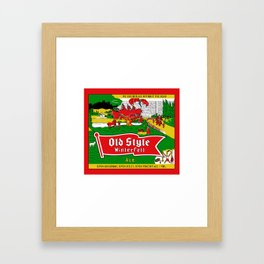 Old Style Northern Ale Framed Art Print