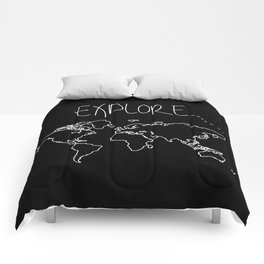 Explore World Map Comforters