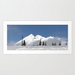 Broken Top winter Art Print