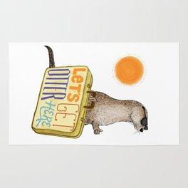 Let's Get Otter Here! Rug