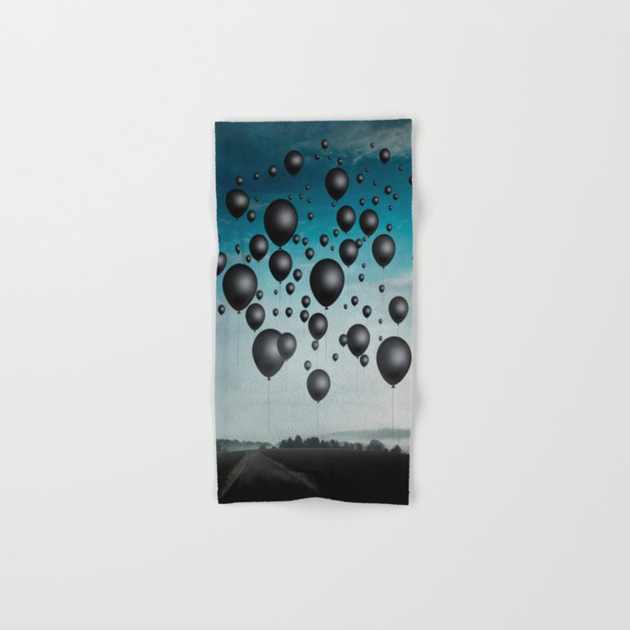 In Limbo - black balloons Hand & Bath Towel