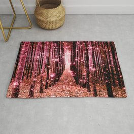 Magical Forest Vibrant Pink Living Coral Rug