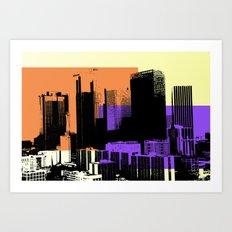 Downtown LA Skyline Art Print