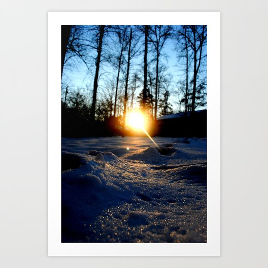 Snowset Art Print