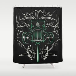 Hot Rod Pinstriping Shower Curtain