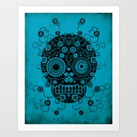 sugar skull Art Prints featuring Sugar Skull by Farnell