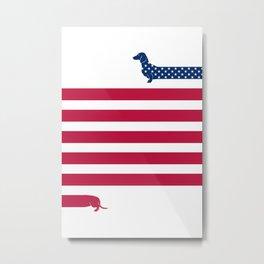 Patriotic Dachshund Metal Print