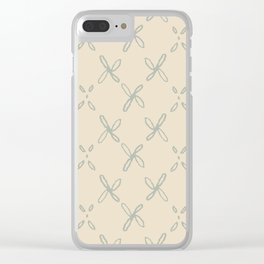 Abstract Astral Pattern in Yellow & Green Clear iPhone Case