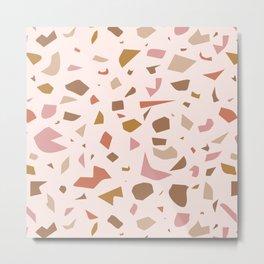 warm pink terrazzo Metal Print