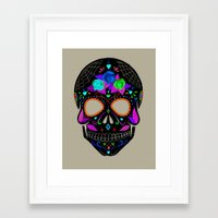 calavera Framed Art Prints featuring Calavera by Ana Victoria Calderón