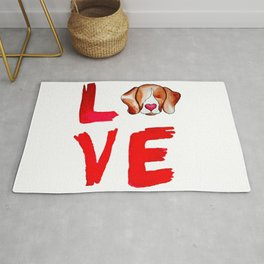 Love Beagles Rug