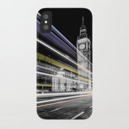 Big Ben light trails iPhone Case