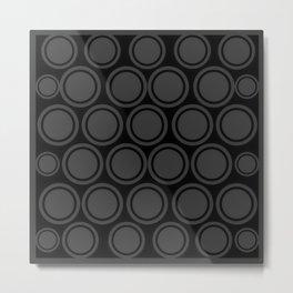 Black and Grey Circles | Mod Graphic Pattern #2 | Nadia Bonello | Canada Metal Print