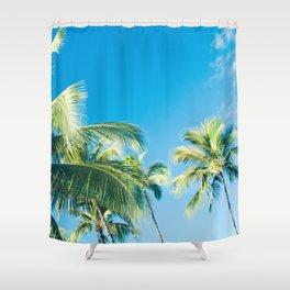 Aloha Hawaii Lahaina Palms Shower Curtain