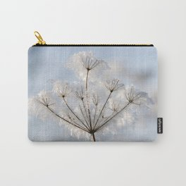 Queen Anne's Lace covered with Winter Frost. Carry-All Pouch
