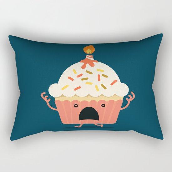 Cupcake on fire Rectangular Pillow