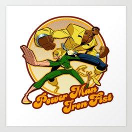 Power Man Iron Fist Art Print