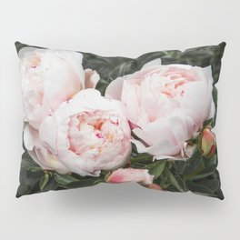 Flower Photography | Peonies Cluster | Blush Pink Floral | Peony Pillow Sham