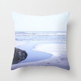 Reality a dreamy beach photo with bokeh Throw Pillow