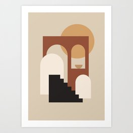 HOME - abstract minimalist art Art Print