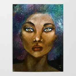 Aurelia (Galaxy Girl Portrait) Poster