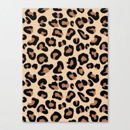 Leopard Print, Black, Brown, Rust and Tan Canvas Print