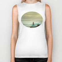 the little mermaid Biker Tanks featuring Little Mermaid by Kim Bajorek