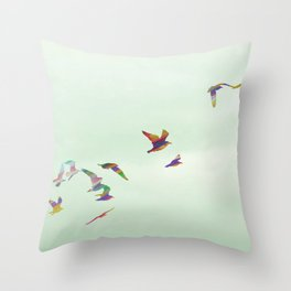 Freedom in Flight Throw Pillow
