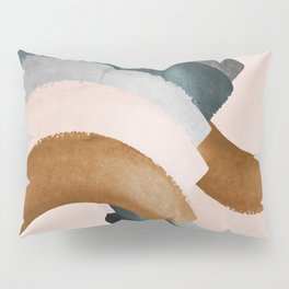 Brushstroke rainbows Pillow Sham