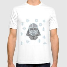 Merry Darth Vaderness   White MEDIUM Mens Fitted Tee