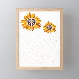 Arvada Fairview Heights City Vintage Faith Hope Love Peace Sign SunFlower Framed Mini Art Print